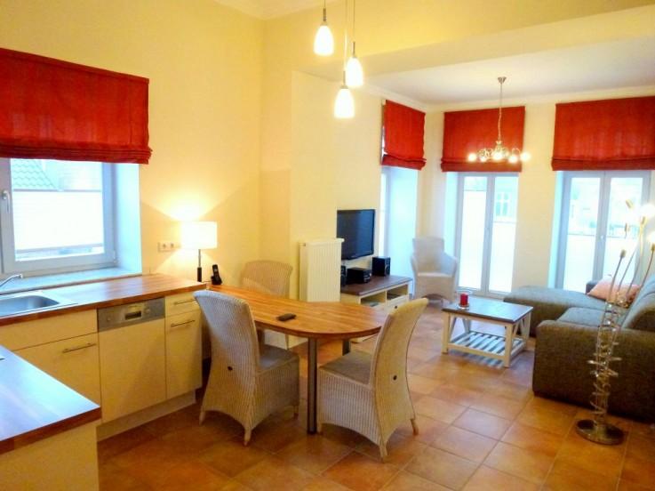 Viel Licht und modernes Urlaubsflair im Ferienappartement 3, Villa Meergl�ck in Westerland.